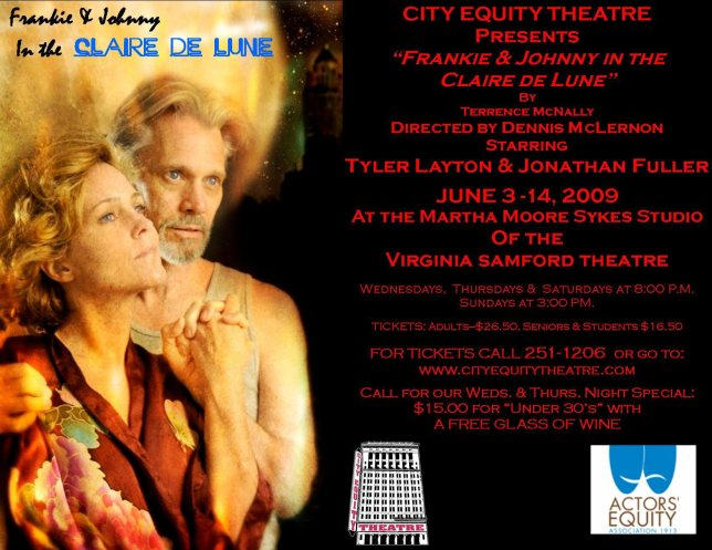 "Email ad, Terrence McNally's ""Frankie & Johnny in the Claire de Lune,"" 2009"
