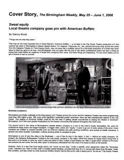 "Birmingham Weekly cover story, ""Sweat Equity,"" by Glenny Brock, May 25 2006 (1 of 3)"