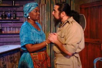Mama Nadi (Chalethia WIlliams) and Mr. Harari (Lito Tamez)
