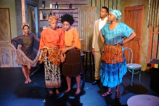 Jospehine (Shronda Major), Sophie (Emana Rachelle), Salima (Danye Brown), Christian (Cecil Washington, Jr.), Mama Nadi (Chalethia Williams)
