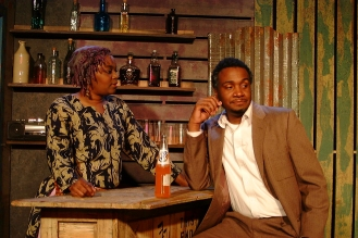 Mama Nadi (Chalethia Williams) and Christian (Cecil Washington, Jr.)