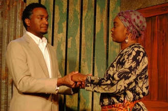 Christian (Cecil Washington, Jr.) and Mama Nadi (Chalethia Williams)